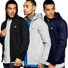 Mens New Adidas Originals Serrated Trefoil  casual Hoody Sweatshirt Jumper Top