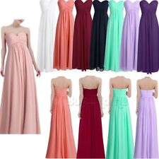 Women Long Evening Ball Prom Gown Formal Bridesmaid Cocktail Party Chiffon Dress