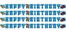 Transformers Optimus Prime Happy Birthday Letter Banner Party Decoration 1-5pk