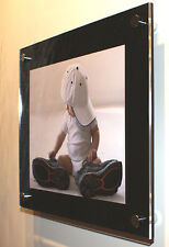 """Acrylic perspex Plexiglas wall picture photo frame for 10x8"""" pixi all colours"""