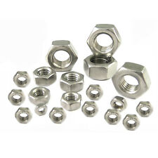 Full Nuts HEX Nut DIN 934 M2 M3 M4 M5 M6 M7 M8 M10 A4 (316) Stainless Steel