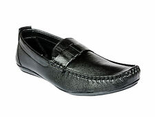 Vedano Classic Black Leather Slip On Formal Shoes FORM010