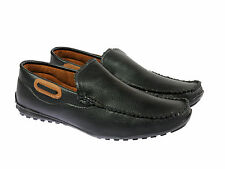 Vedano Black Formal Corporate wear Slip On Shoes FORM013
