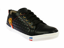 Vedano Soft Leather Black Racer Sneaker shoes CASA037