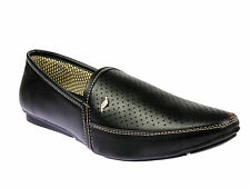 Vedano Black Indian Formal Shoes for Kurta Pyjama and Office wear FORM011