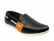 Vedano Leather Navy Designers Casual Loafers CASA042