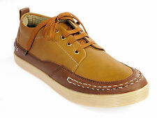 Vedano Brown Casual Leather Sneakers CASA018