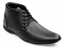 Vedano Black Leather Ankle Length Formal Shoes FORM005