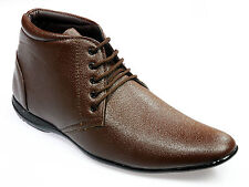 Vedano Brown Leather Ankle Length Formal Shoes FORM003