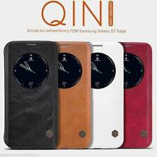 NILLKIN QIN Series Genuine Flip Wallet Leather Case For Samsung Galaxy S6
