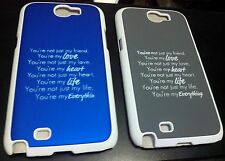 for samsung galaxy note2 n7100 n 7100 hard case back cover new messages print