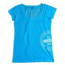 Everlast T-shirt Donna 22W645G67 Jersey Slub Coll Dyed Celeste Fluo  ( Heavenly