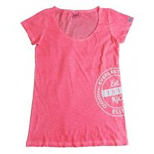 Everlast T-shirt Donna 22W645G67 Jersey Slub Coll Dyed Rosa Fluo (Pink Fluo)