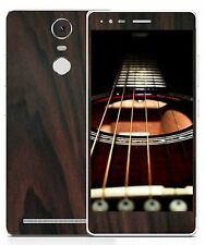 Lenovo K5 Note Mapple Black Carbon Matte Wooden Mahogany Skin for Front and Back