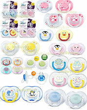 2 x Philips AVENT Orthodontic Baby Pacifier Soothers Boys Girls Dummy