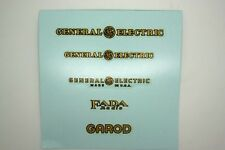 DECALS ATWATER KENT FADA GENERAL ELECTRIC PHILCO STEWART WARNER ZENITH EMERSON