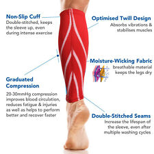 Calf Support Compression Leg Sleeve Sports Running Cycling Jogging Exercise New