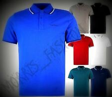 New Classic  Mens  Pierre Cardin Tipped Polo Shirt Short Sleeves Top Size S-4XL