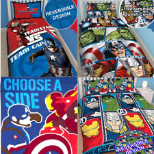 NEW OFFICIAL MARVEL AVENGERS Single Duvet Cover Bedding Set Hulk Thor America UK
