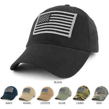 USA American Flag Embroidered Subdued GREY Tactical Patch with Adj. Operator Cap