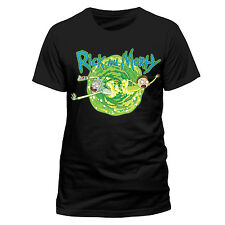 Official Rick And Morty Portal Black T-Shirt