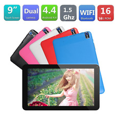 """9"""" inch Google Android4.4 A33 Quad Core 8GB Dual Camera Wifi Tablet PC AU Red"""
