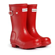 Hunter Kids Wellington Boots - Red - Reduced only £29.95