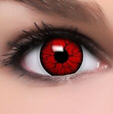 CRAZY Coloured Contact Lenses Kontaktlinsen color contacts lens halloween Red Bi