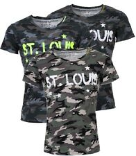 Key Largo Herren Camouflage T-Shirt St. Louis vintage Tarnfarbe military look