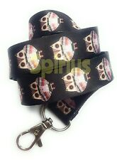 Spirius OWL Lanyard Neck Strap with Metal Clip for ID Card Phone  Badge Holder