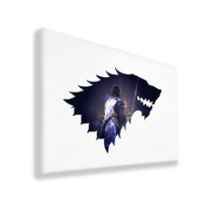 Original Art Inspired by Game of Thrones - Jon Snow - Wall Canvas