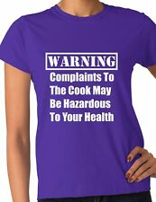 Warning Complaints To The Cook Chef Funny Ladies T Shirt Size S-XXL