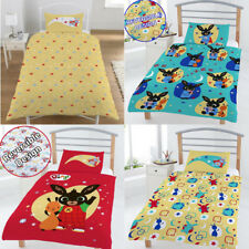 NEW BING BUNNY Cot bed Junior Toddler Quilt Duvet Cover Set Boy Girl Kid BEDROOM