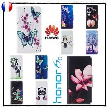 Etui porte cartes coque housse Leather Wallet case cover Huawei Honor 6c