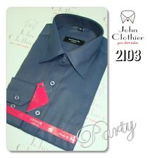 Summer Shirts for Mens Blended Cotton Formal Business Wear  Navy Blue NEW Pack