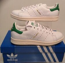 ADIDAS AUTHENTIC STAN SMITH TRAINERS WHITE-GREEN S75074 SIZES UK 4.5 TO UK 11/46