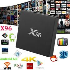 TOP 1GB+8GB Android 6.0 X96 Smart TV BOX S905X Quad-core 4K*2K 2.4G WIFi 3D