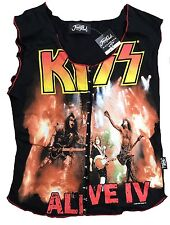 Rare Unworn Authentic JONNY ROCK Official KISS Alive IV Band Tank Top Shirt XS/S