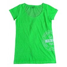 Everlast T-shirt Donna 22W645G67 Jersey Slub Coll Dyed Verde Fluo ( Green Fluo)