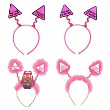HEN PARTY HEAD BOPPERS Girls Ladies Night Out Stag Do Pink Headband Accessories