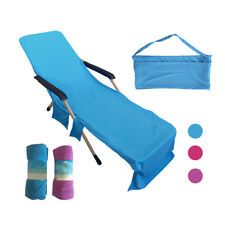 Beach Lounger Chair Towel Sun Lounger For Holiday Garden Lounge with Pockets