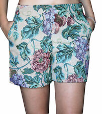 PANTALONCINI DONNA SHORTS REBEKA ROSS FANTASIA A FIORI COTONE MADE IN ITALY M...