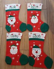 Personalised Embroidered Christmas Santa Snowman Stocking