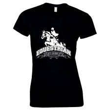 Equestrian Horse Riding Show Jumping Racing Stables Workwear Womens T Shirt