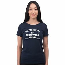 University Of Equestrian Sports Horse Riding Stables Workwear Womens T Shirt