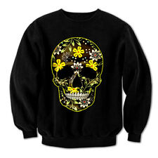 Flower Skull Day Of The Dead Mexican Candy indie Gothic Mens Sweatshirt #3