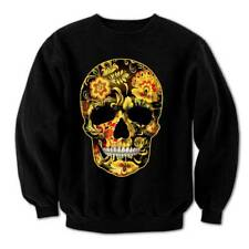 Flower Skull Candy Day Of The Dead Mexico Sugar Skull Gothic Men's Sweatshirt