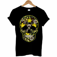 Flower Skull Day Of The Dead Mexican Candy indie Gothic Mens T Shirt #3