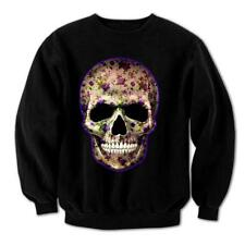 Flower Skull Day Of The Dead Mexican Candy indie Gothic Mens Sweatshirt #4