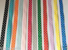Baby Polka Dot Dummy Soother Pacifiers Clips ~ 12 Colours ~ New ~ FREE UK P&P